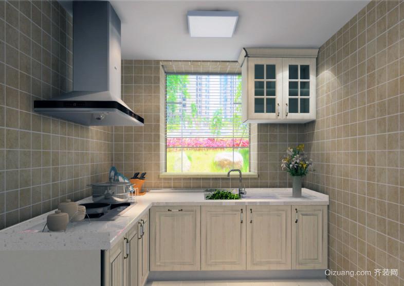 现代欧式大户型厨房装修效果图