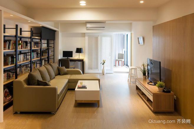 简约原木风90平米家庭装修设计效果图