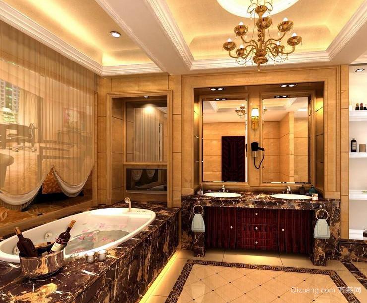 豪华别墅大型精致洗手间装修效果图