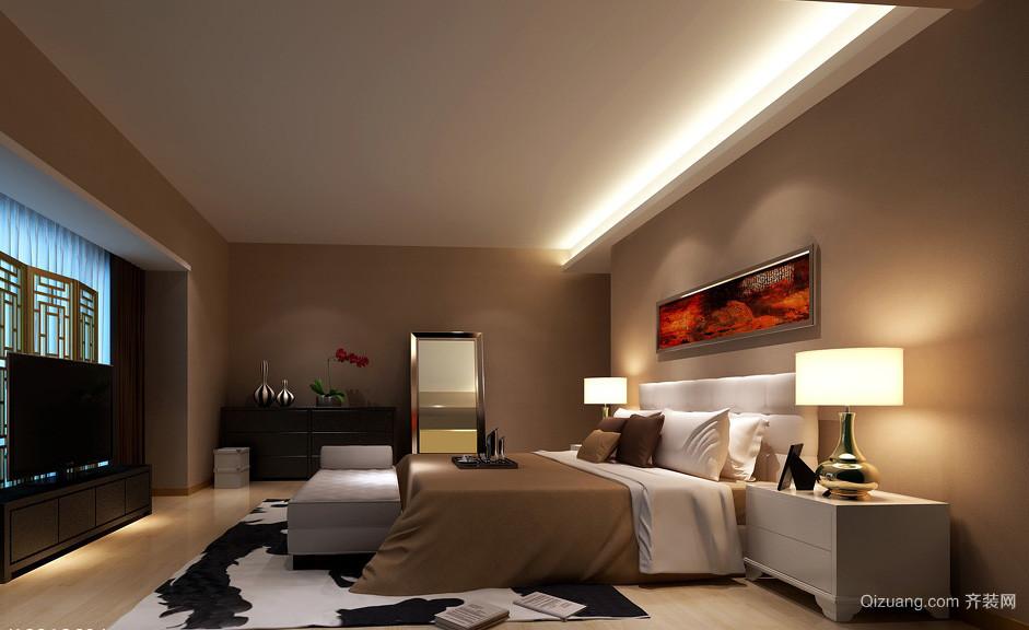 大户型别墅新中式卧室装修设计效果图