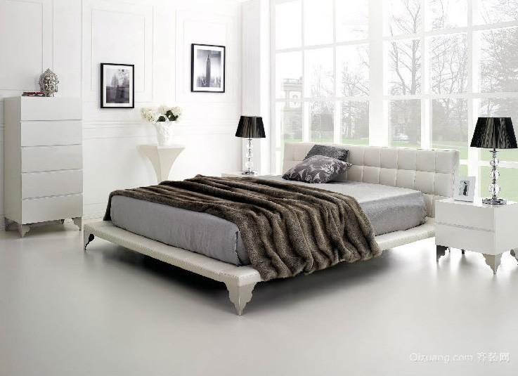 后现代简约风格公寓卧室装修效果图