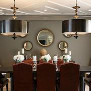 新古典风格别墅餐厅软装配饰设计图