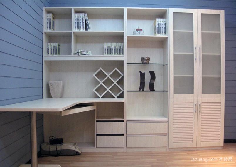 精致完美的大户型书柜装修效果图片大全