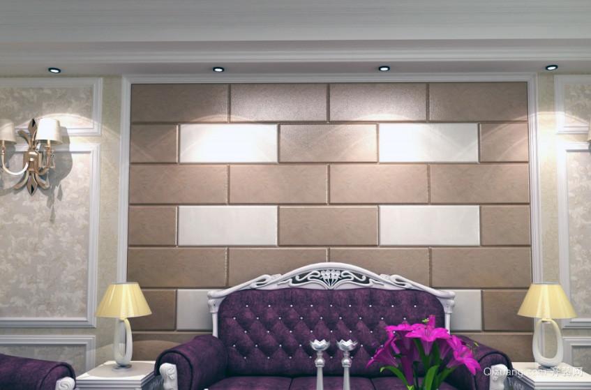 都市欧式大户型沙发背景墙装修效果图实例