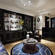 公寓客厅黑色置物柜