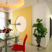 家庭餐厅橙色背景墙