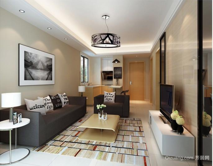 摩登前卫单身公寓客厅软装配饰设计图