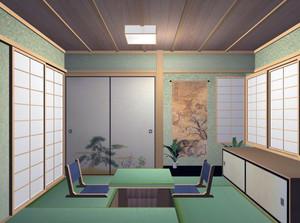大户型日式风格榻榻米床装修效果图