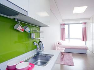 韩式简约90平米单身公寓装修效果图
