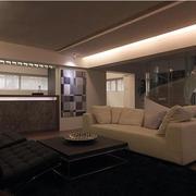 复式楼小客厅沙发茶几