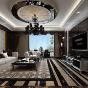后现代风格大户型豪华客厅装修效果图