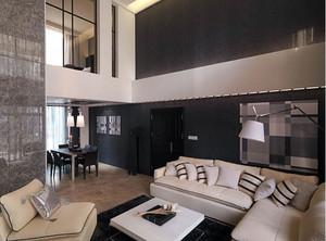 中性冷色调现代简约小复式楼装修效果图