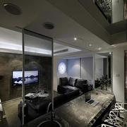 后现代中性冷色调小户型客厅装修效果图