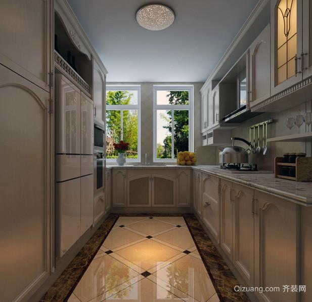 现代欧式别墅型厨房装修效果图鉴赏