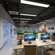 时尚前卫小型办公室吊顶装修设计效果图