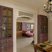 公寓餐厅实木置物柜