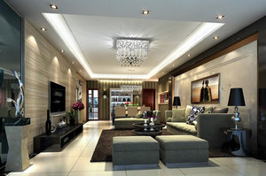 后现代风格120平米家居客厅装修效果图