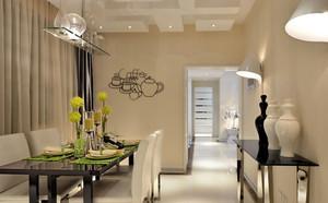 韩式清新三居室餐厅软装配饰设计图
