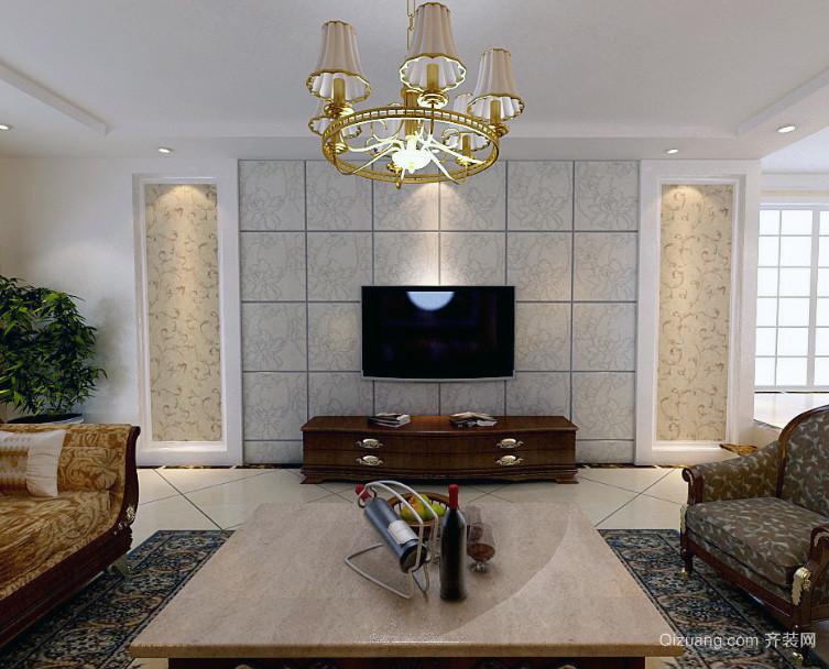 北欧风格大户型电视背景墙装修效果图