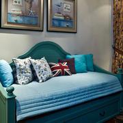 美式风格小户型客厅沙发装饰