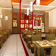 简约风格中式时尚快餐店装修效果图
