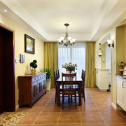 美式简约风格三室两厅玄关装饰