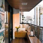 简约风格小户型原木阳台吊顶装饰