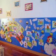 幼儿园简约背景墙装饰
