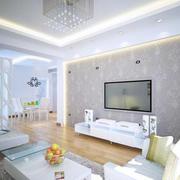 小户型现代简约风格客厅印花电视背景墙装饰