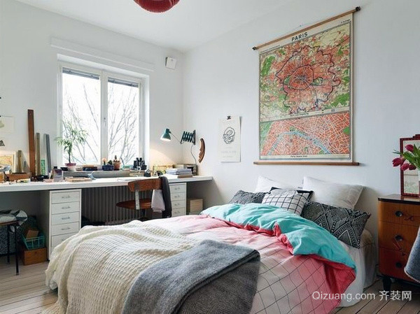 独栋小别墅温馨欧式卧室装修效果图