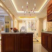 三室两厅简约美式厨房装修效果图