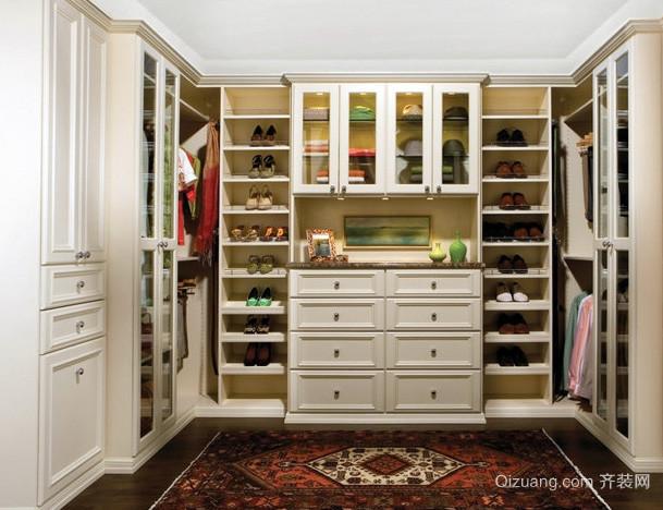 欧式简约风格大户型衣帽间整体组合衣柜装修