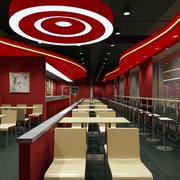 快餐店红色装饰