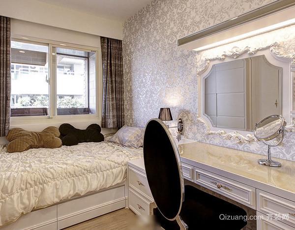 大型别墅欧式公主系卧室梳妆台装饰