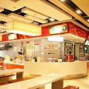 明亮黄色快餐店展示