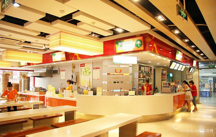 色彩亮丽的大型快餐店装修设计效果图