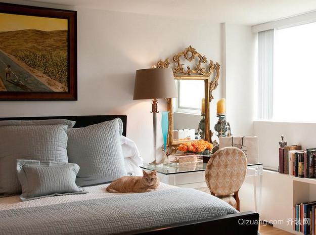 别墅欧式奢华风格卧室梳妆台装饰