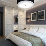 后现代风格复式楼卧室衣柜装修效果图