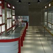 中式简约风格眼镜店货柜装饰