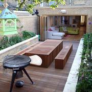 庭院生态木地板展示