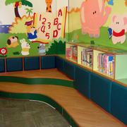 幼儿园简约风格柜台装饰