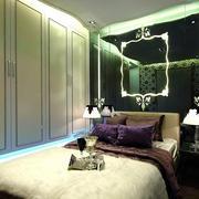 后现代风格奢华卧室整体组合衣柜效果图
