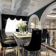 现代简欧风格别墅型餐厅装修效果图