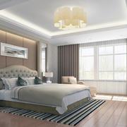 唯美别墅型欧式卧室背景墙装修效果图