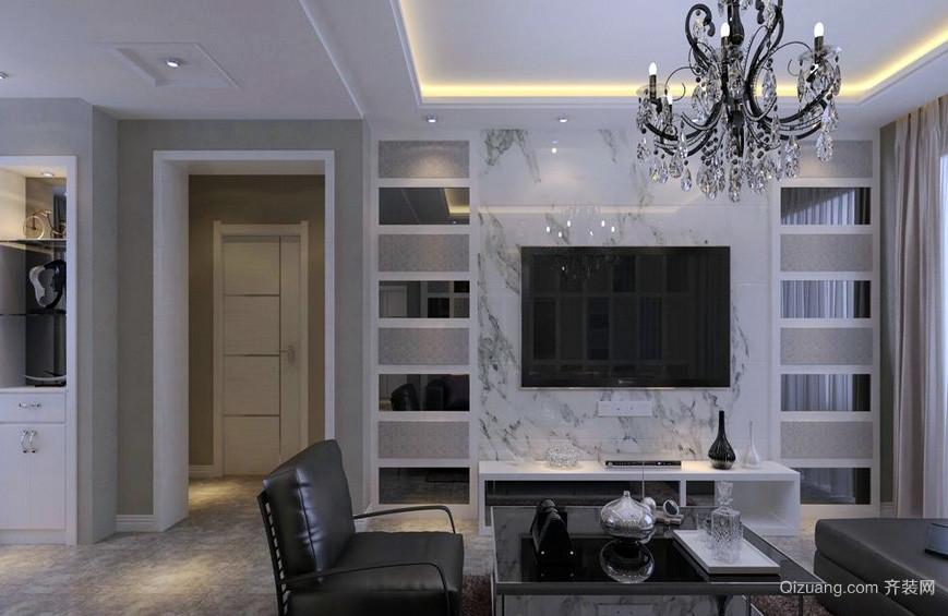 都市家居客厅瓷砖影视墙装修效果图大全