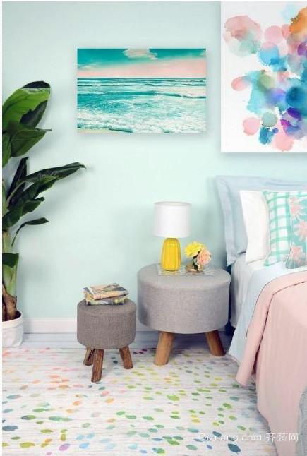 清新淡蓝地中海小户型卧室装修效果图