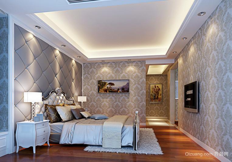 别墅简欧卧室液体墙纸装修效果图片大全