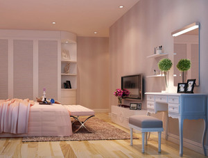 小户型简约跃层卧室梳妆台装饰设计