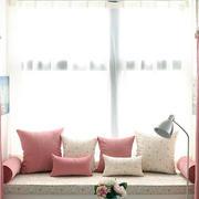 韩式简约粉色系卧室飘窗装修效果图