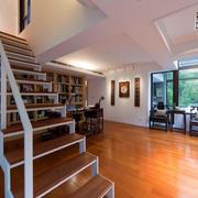 大户型现代风格楼梯设计装修效果图